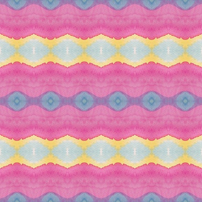 pink and yellow waves