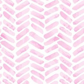 Pink Herringbone watercolor