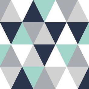 triangle cheater quilt navy blue mint and grey, kids blanket, boys crib sheet, crib blanket, baby, boy nursery