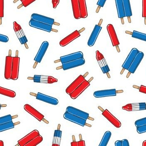 Red, White, & Blue Popsicles