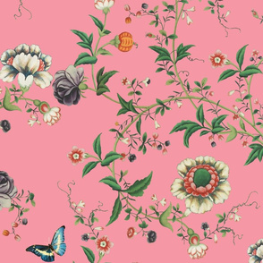 The Dowager's Chinese Room Pompadour pink