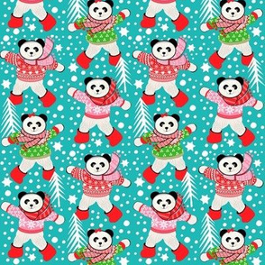Scandinavian  Pandas Christmas , Holiday
