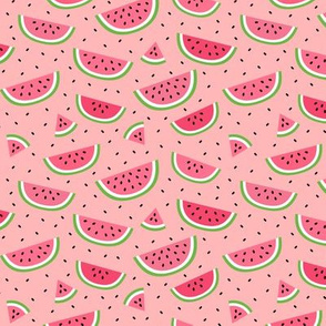 watermelons light pink :: fruity fun