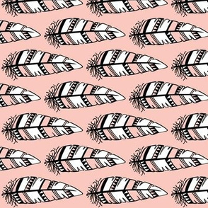 Feathers bold  // Pink background