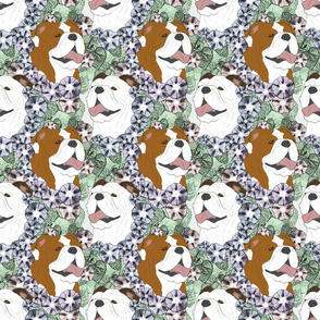 Floral Bulldog portraits