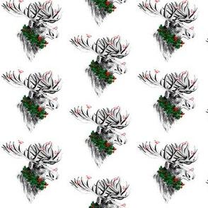 Christmas Moose and Birdies