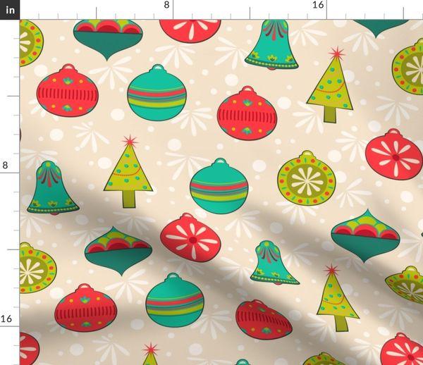 Vintage Christmas Lights.Colorful Fabrics Digitally Printed By Spoonflower Vintage Christmas Light