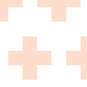 Cheater Quilt in Blush Pink White Plus