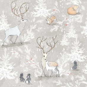 Vintage Woodland Christmas (LARGE)