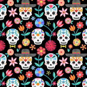 Sugar Skulls - Black large scale