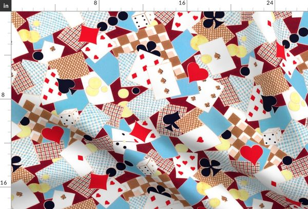 French Playing Cards Suits Poker Clubs D Spoonflower