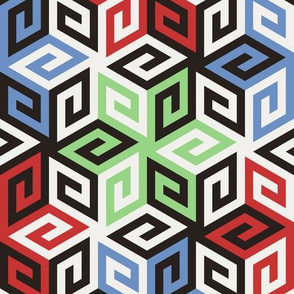 05637119 : greek cube : fifties shades of grecan