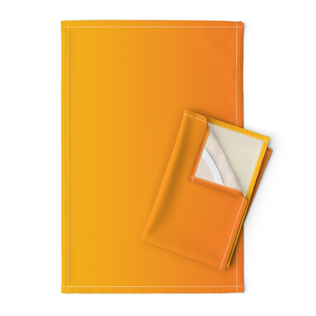 Orpington Tea Towels featuring Ombre Orange and Gold or Yellow by furbuddy