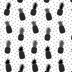 pineapples + black white :: fruity fun