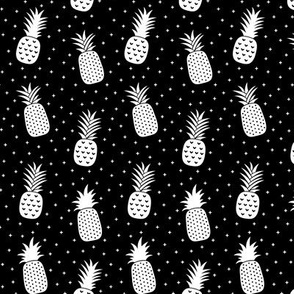 pineapples + white black :: fruity fun