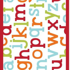 little one alphabet border