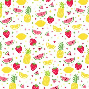 fruity mix plus :: fruity fun lemons strawberries pineapples watermelons