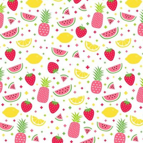fruity mix plus pink :: fruity fun lemons strawberries pineapples watermelons