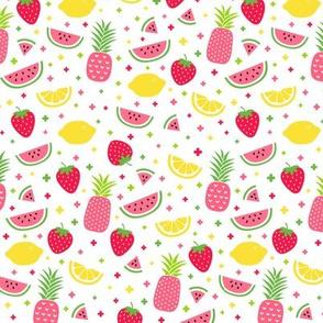 fruity mix plus pink :: fruity fun lemons strawberries pineapples watermelons