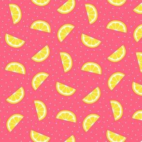lemon slices pink :: fruity fun