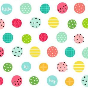 hello hi hey dots :: fruity fun