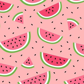 watermelons light pink :: fruity fun bigger