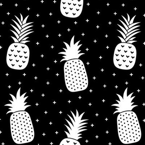 pineapples + white black :: fruity fun bigger