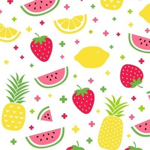 fruity mix plus :: fruity fun bigger lemons strawberries pineapples watermelons