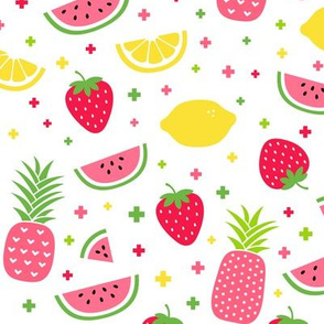 fruity mix plus pink :: fruity fun bigger lemons strawberries pineapples watermelons