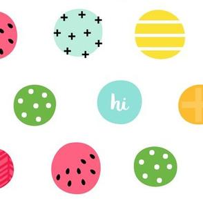 hello hi hey dots :: fruity fun bigger