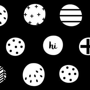 hello hi hey dots white black :: fruity fun bigger