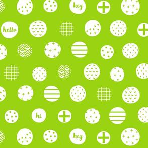 hello hi hey lime green :: fruity fun bigger