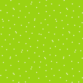 triangle confetti lime green :: fruity fun bigger