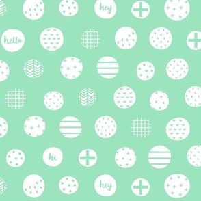 hello hi hey mint green :: fruity fun bigger