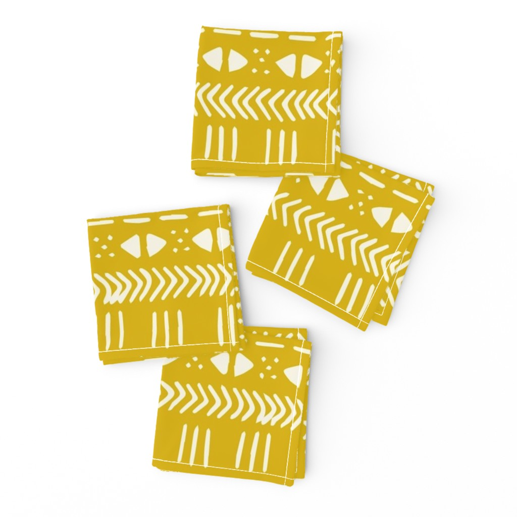 Frizzle Cocktail Napkins featuring BIG Mustard Mudcloth Max by brainsarepretty