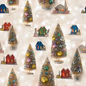 Vintage Christmas Putz Village