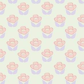 Retro Roses in Cream // Vintage-inspired modern floral print for wallpaper or fabric - original repeat pattern by Zoe Charlotte