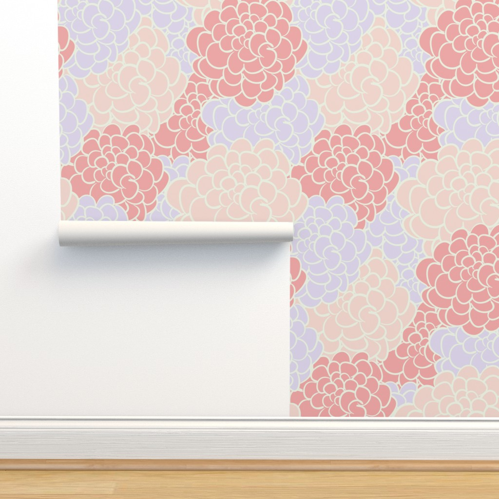 Camellia In Pink Vintage Inspired Modern On Isobar By