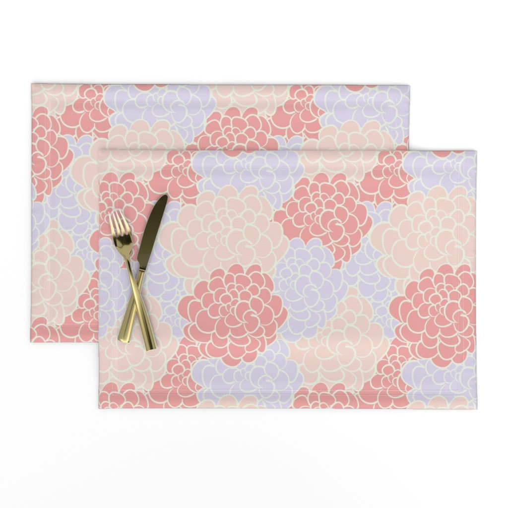Camellia In Pink Vintage Inspired Modern On Lamona By