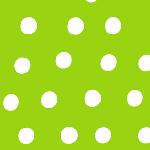 dots lime green :: fruity fun huge