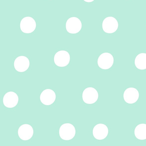dots light teal :: fruity fun huge