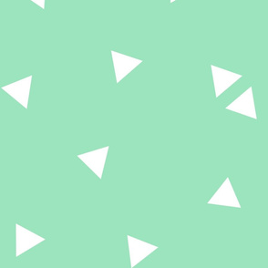 triangle confetti mint green :: fruity fun huge