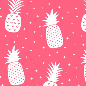 pineapples + pink :: fruity fun huge