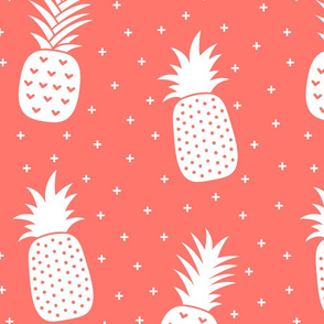 pineapples + coral :: fruity fun huge