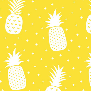 pineapples + yellow :: fruity fun huge