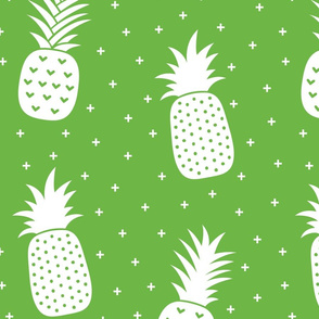 pineapples + green :: fruity fun huge