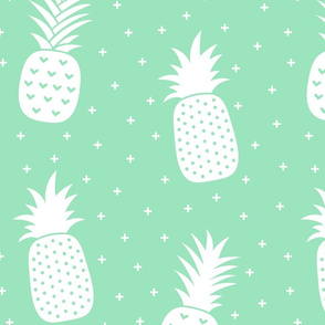 pineapples + mint green :: fruity fun huge