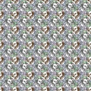 Small Floral Dalmatian portraits