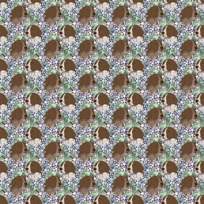 Floral German shorthaired Pointer portraits - small