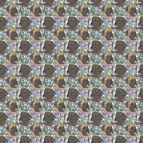 Floral Mastiff portraits - small